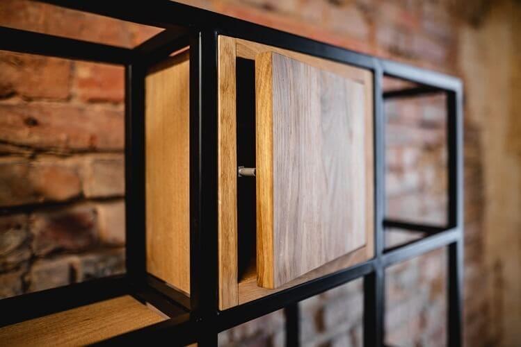 regal drewniany krogulec minimalistyczny geometryczny 3